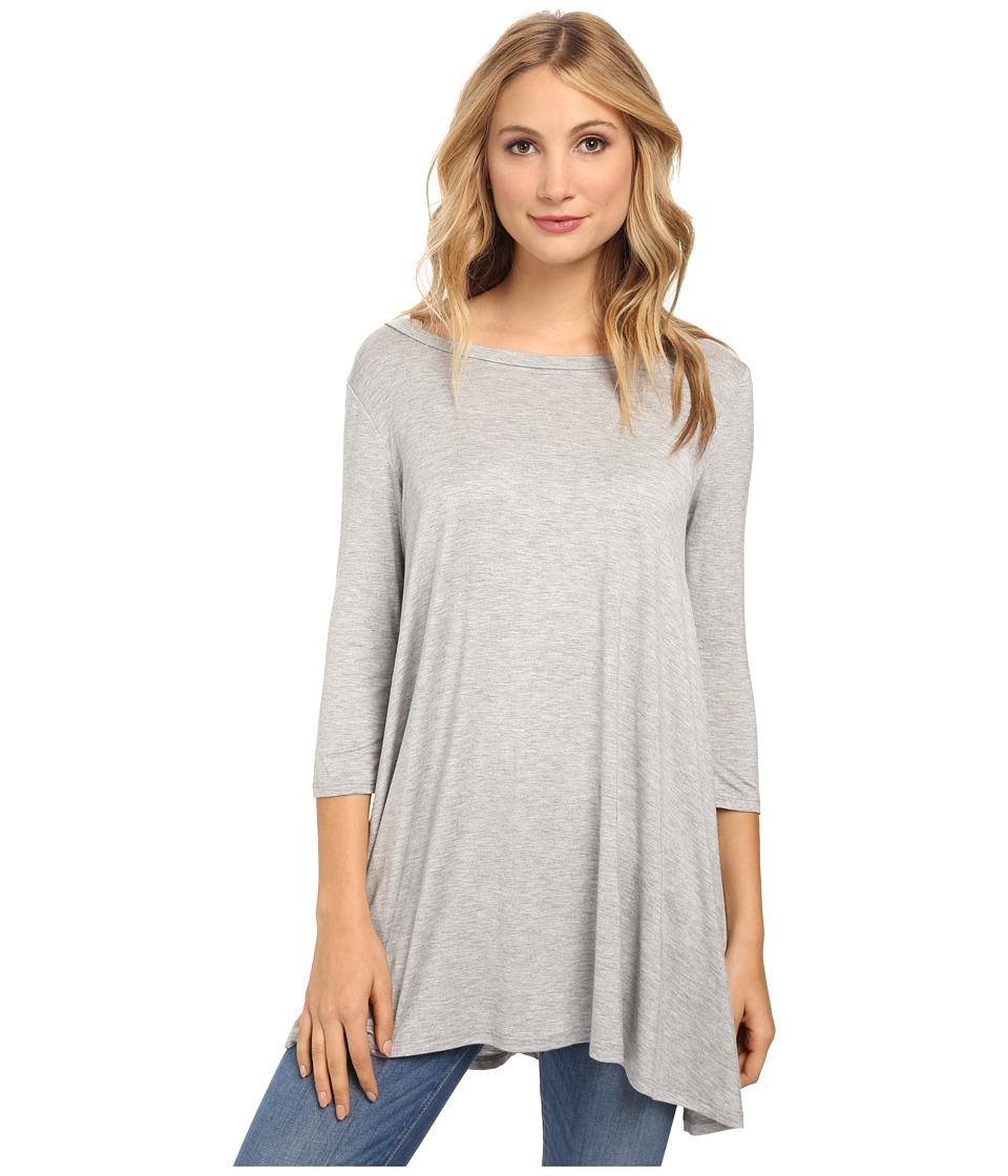 Culture Phit - Arianna Top (Heather Grey) Women's Long Sleeve Pullover