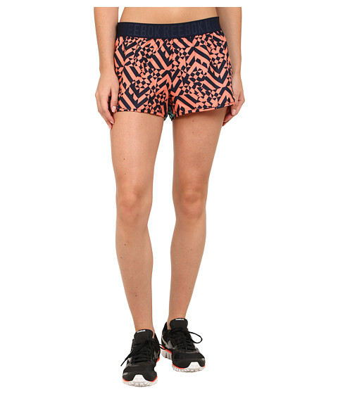 Reebok - Workout Ready Printed Woven Short (Coral/Faux Indigo) Women