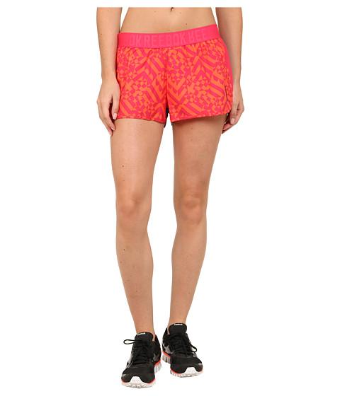 Reebok - Workout Ready Printed Woven Short (Blazing Pink/Vivid Tangerine) Women