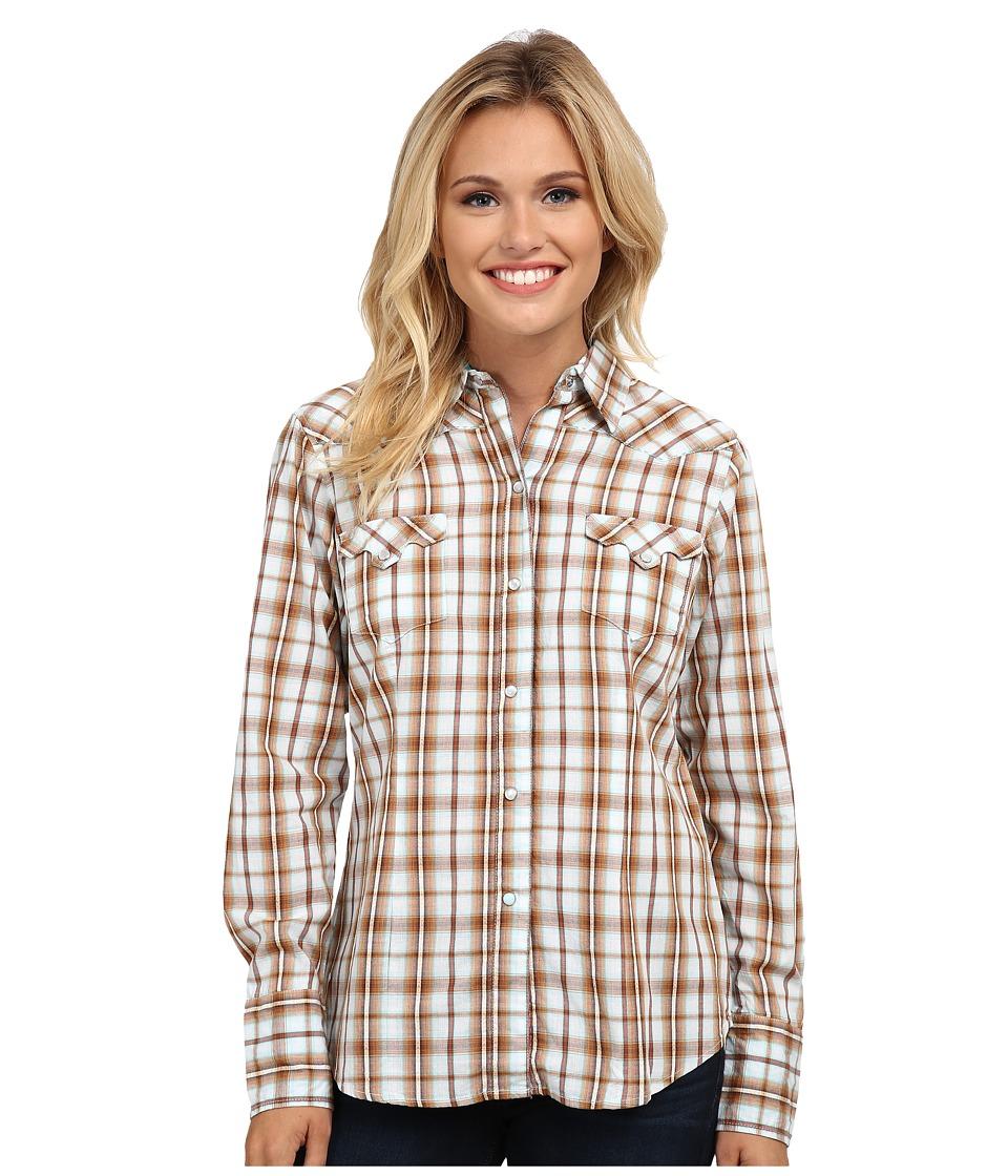 Roper - 9535 Dobby Plaid (Brown) Women's Clothing
