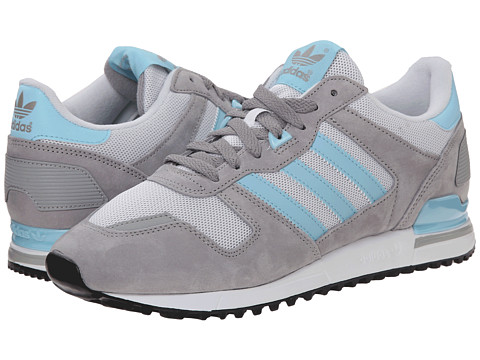adidas Originals - ZX 700 (Dark Grey Heather Solid Grey/Blush Blue/White) Men