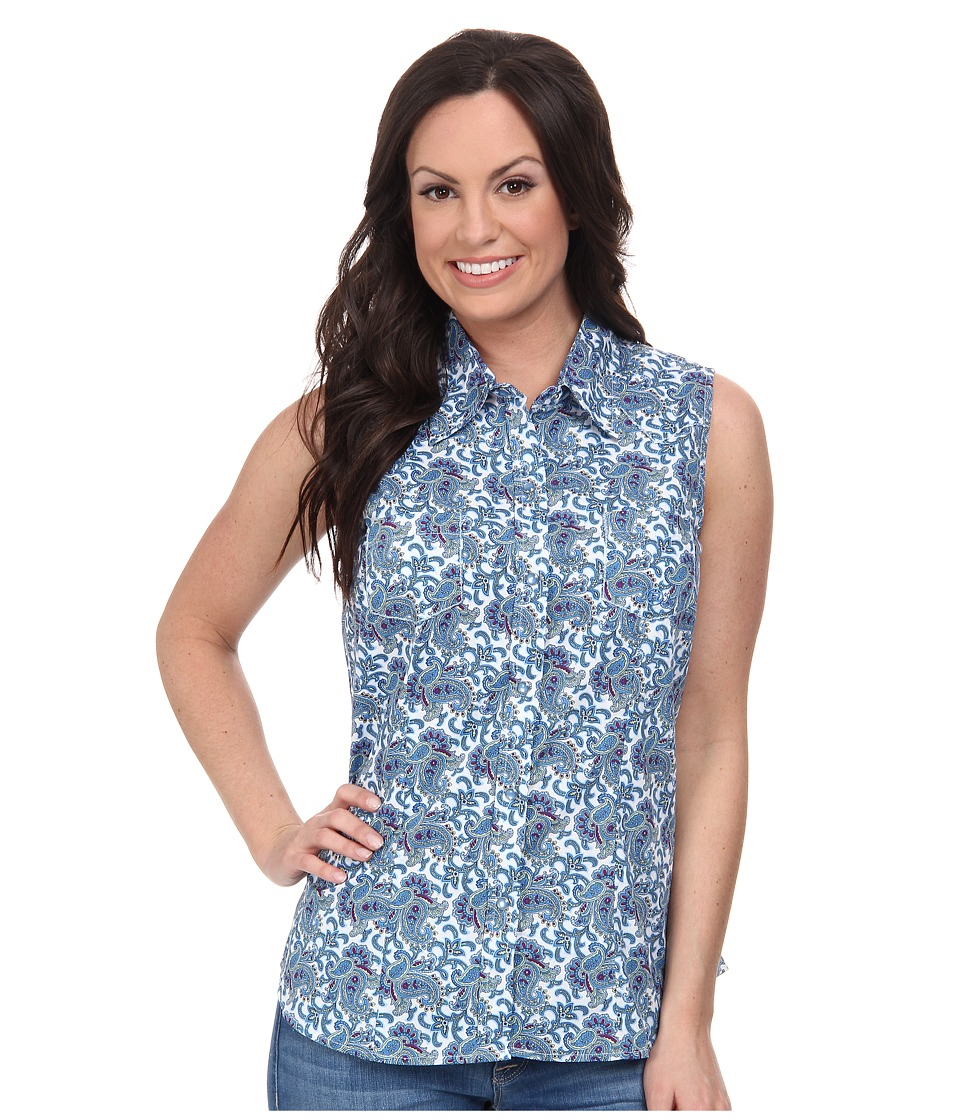 Roper - 9552 Book Paisley (Blue) Women's Sleeveless