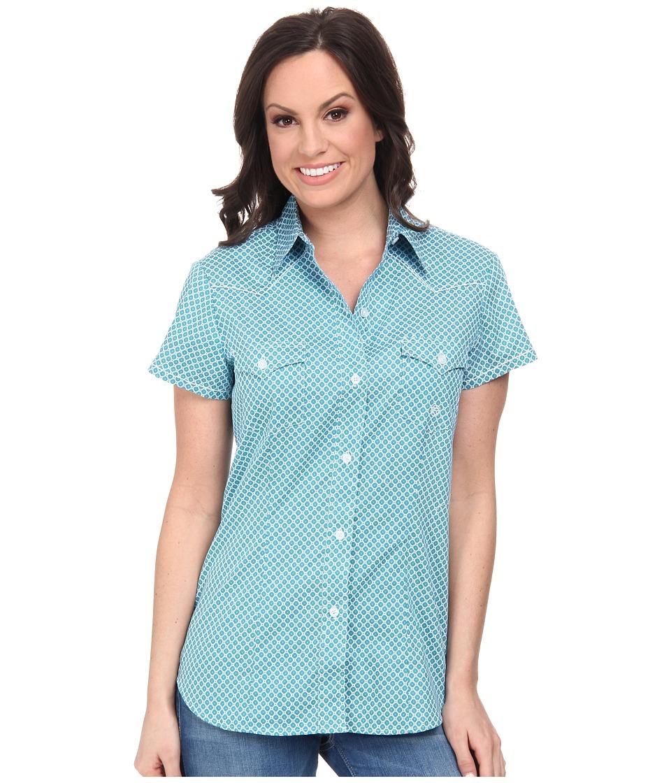Roper - 9574 Diamond Print (Blue) Women's Clothing