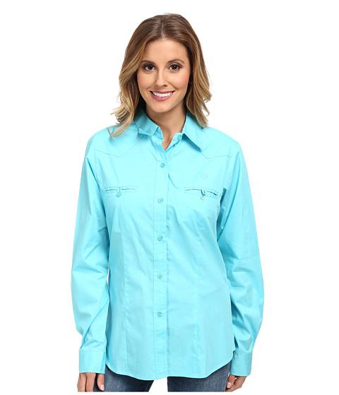 Roper - 9595 Solid Poplin (Blue) Women