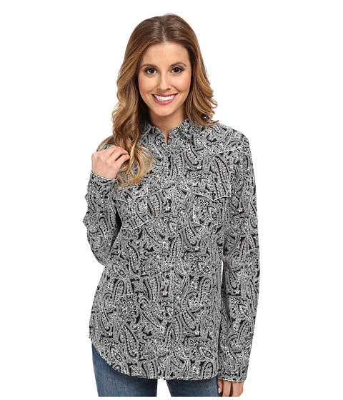 Roper - 9545 Positive Negative Paisley (Black) Women's Clothing