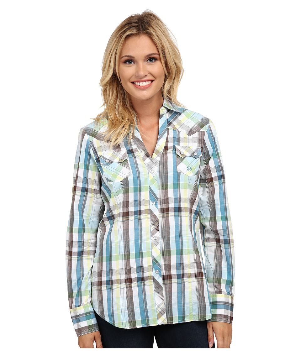 Roper - 9542 Natures Plaid (Blue) Women