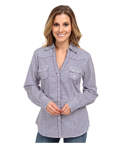 Roper - 9551 Basket Weave (Purple) Women's Long Sleeve Button Up
