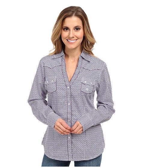 Roper - 9551 Basket Weave (Purple) Women's Long Sleeve Button Up