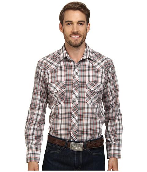 Roper - 9667 Black Brick Plaid w/ Gold Lurex (Black) Men's Long Sleeve Button Up