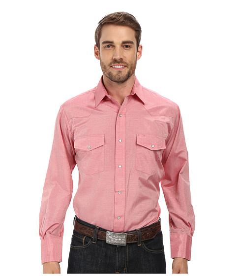 Roper - 9654C1 Tone On Tone Diamond (Red) Men's Clothing