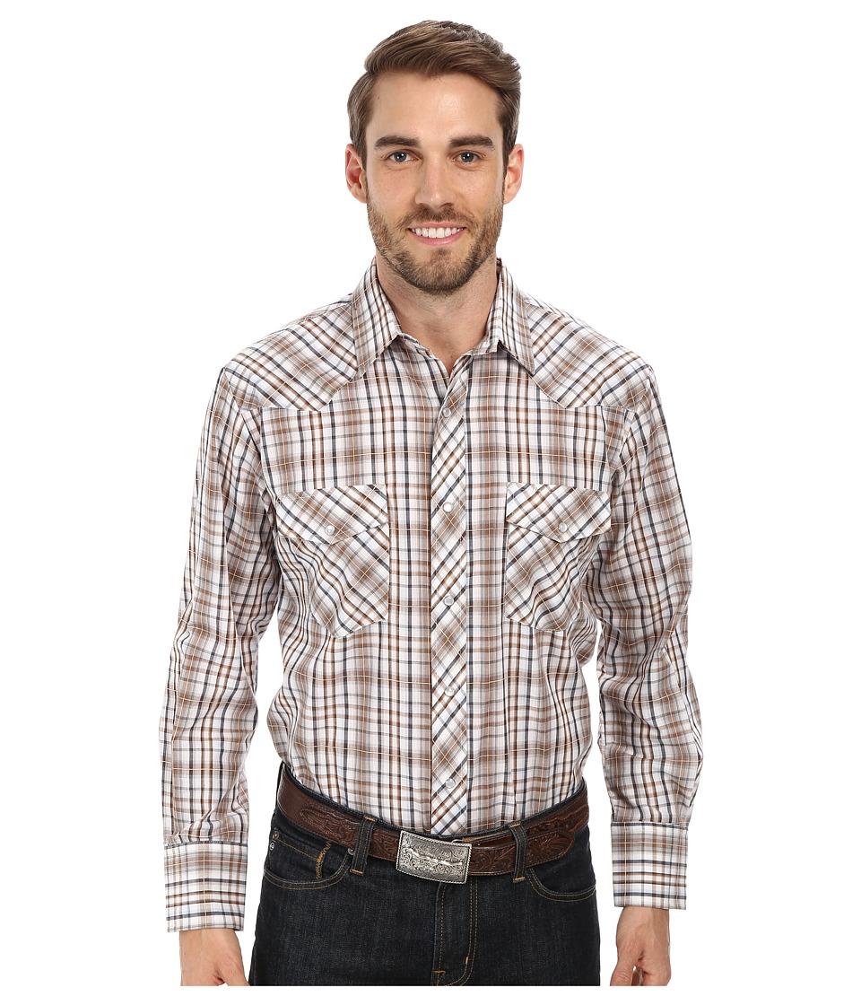 Roper - 9668 Neutral Plaid (Brown) Men's Clothing
