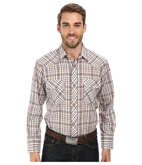Roper - 9668 Neutral Plaid (Brown) Men