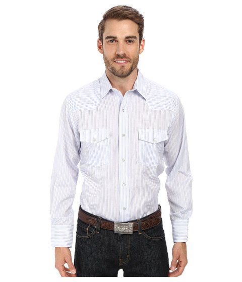 Roper - 9655 Peri Stripe w/ Lurex (Blue) Men