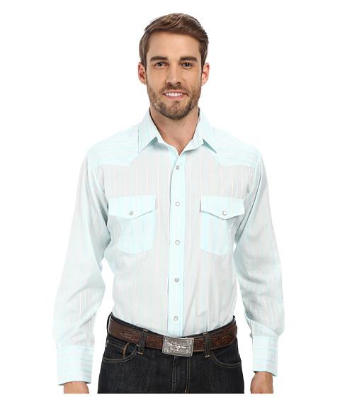 Roper - 9656 Aqua Stripe (Blue) Men's Clothing