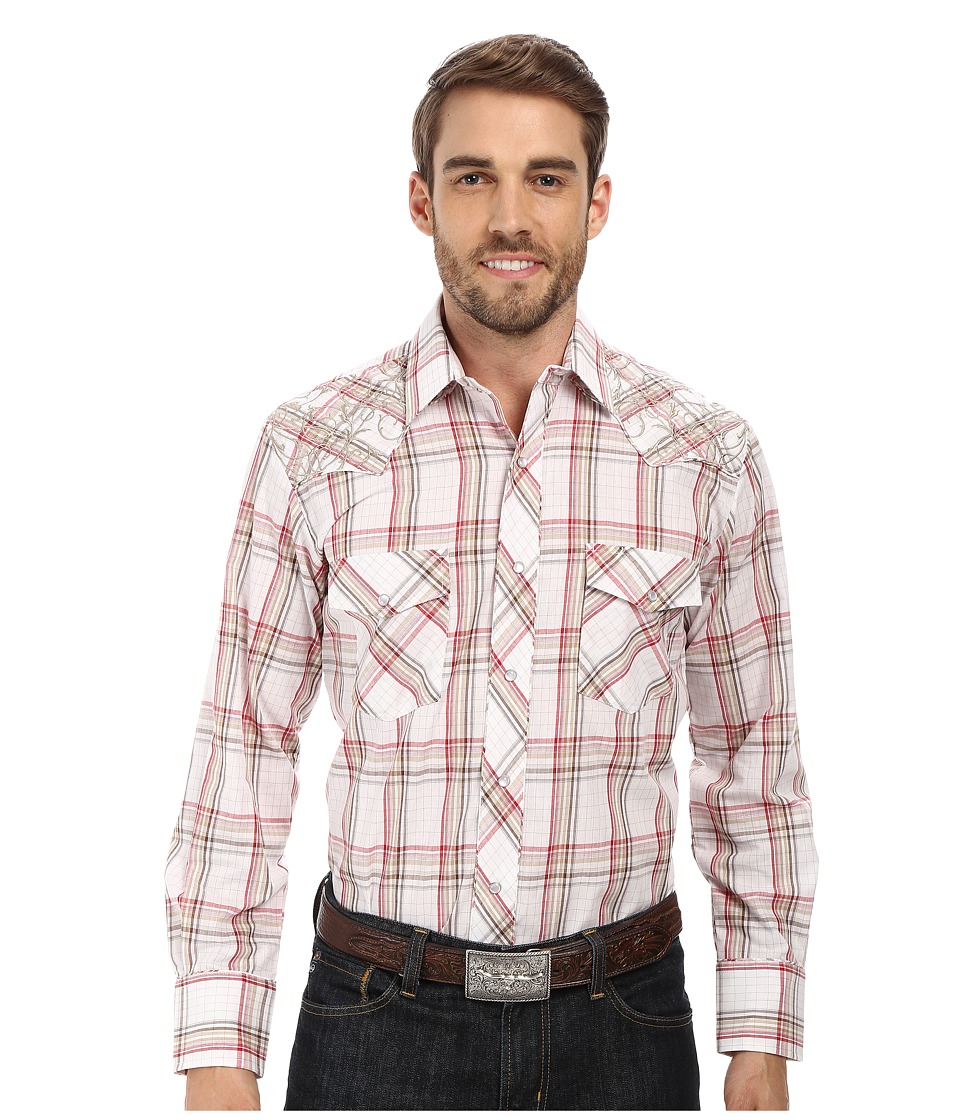 Roper - 9672 Red Multi Plaid w/ Gold Lurex (Red) Men's Clothing