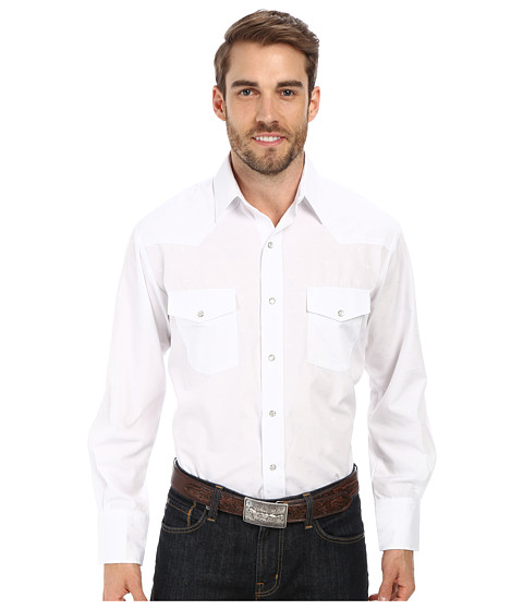 Roper - 9653 Tone On Tone Dobby w/ Longhorn (White) Men