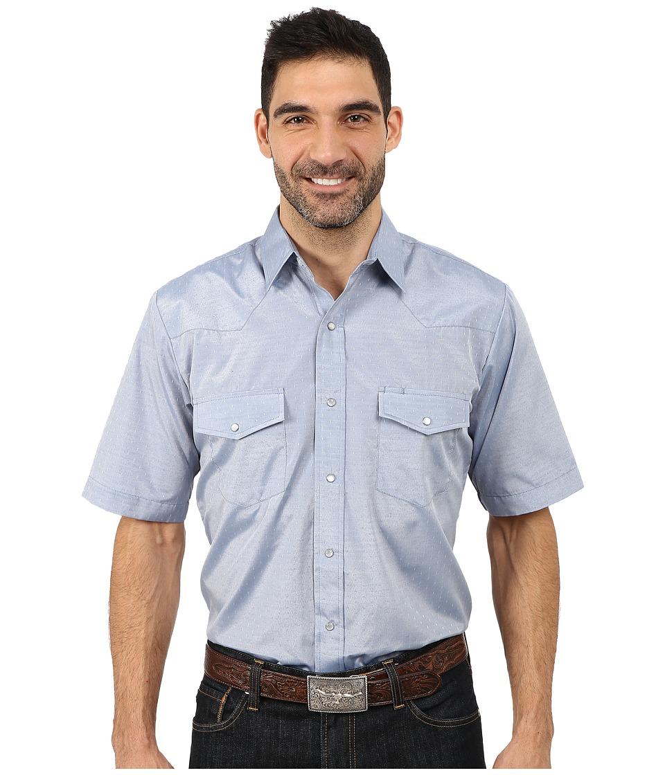 Roper - 9654C2 Tone On Tone Diamond (Blue) Men's Clothing