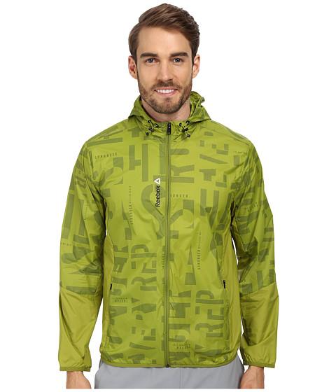 Reebok - One Series Hooded Wind Jacket (Fili Green) Men
