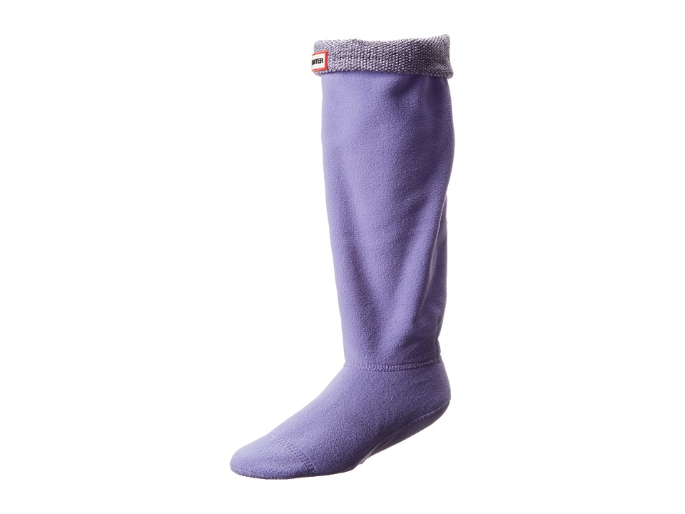 Hunter - Mouline Boot Sock (Black/White/Bright Lilac) Women's Knee High Socks Shoes