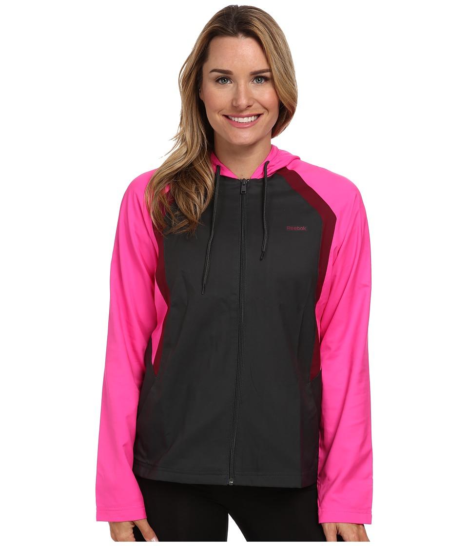 Reebok - Woven Jacket (Gravel/Dynamic Pink) Women