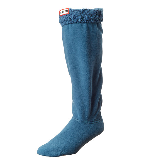 Hunter - Dual Cable Knit Boot Socks (Dusty Petrol) Women