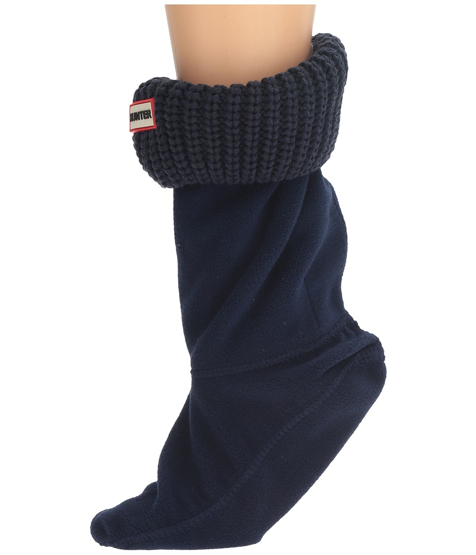 Hunter - Half Cardigan Boot Sock - Short (Bright Navy) Women's Crew Cut Socks Shoes