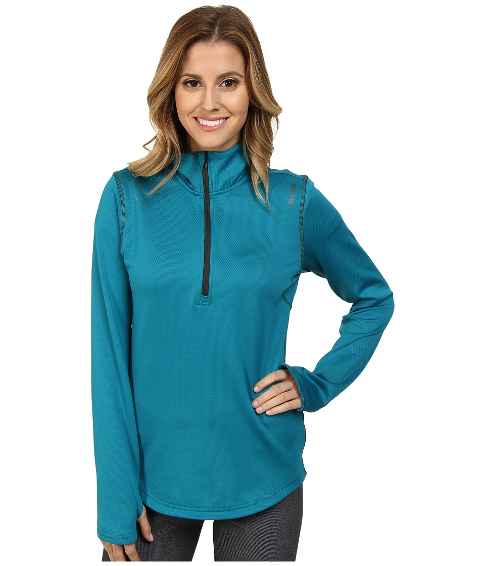 Reebok - Workout Ready 1/4 Zip (English Emerald) Women's Clothing