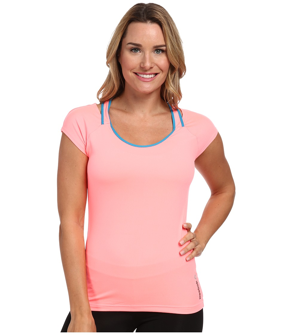 Reebok - One Series Print Tee (Punch Pink) Women's T Shirt