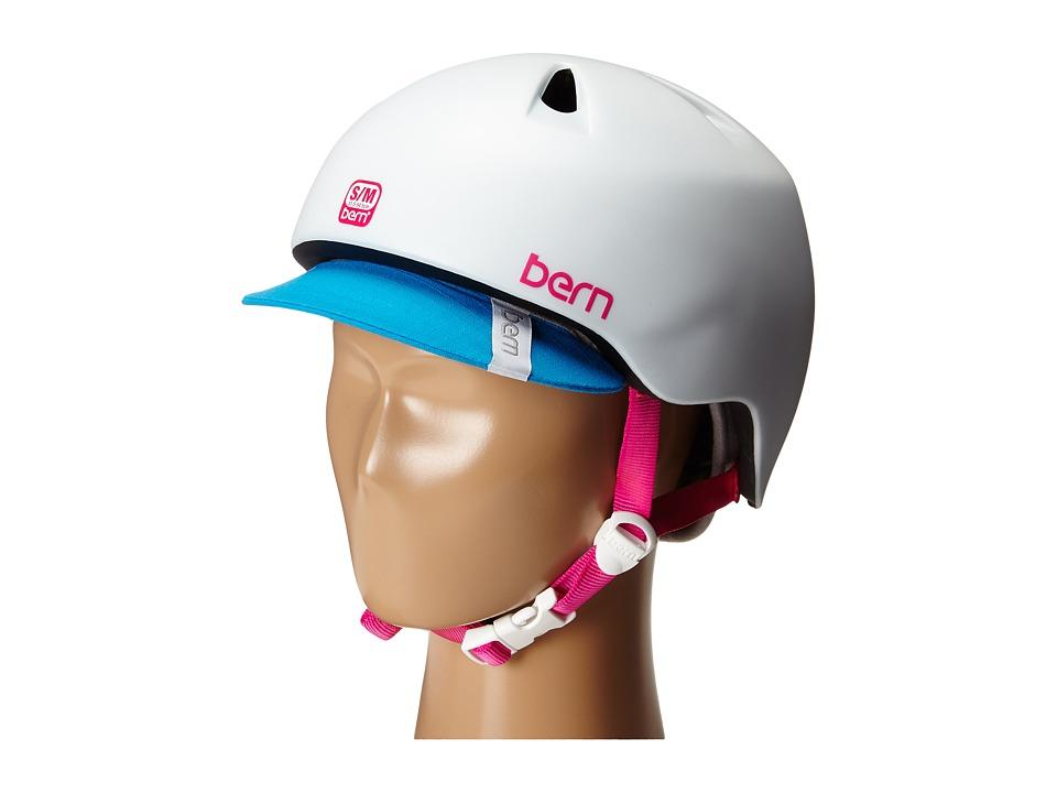 Bern - Nina w/ Visor (Satin White) Snow/Ski/Adventure Helmet