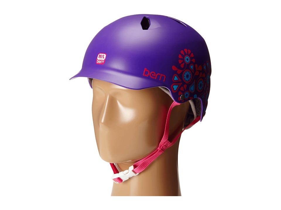 Bern - Bandita EPS (Satin Purple Floral) Snow/Ski/Adventure Helmet