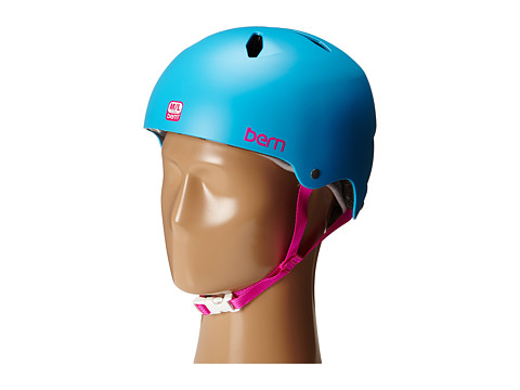 Bern - Diabla EPS (Satin Cyan Blue) Snow/Ski/Adventure Helmet