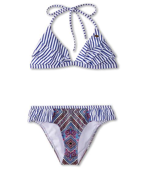 O'Neill Kids - Samba Ruffle Tri Bikini (Big Kids) (Blue Bell) Girl's Swimwear Sets