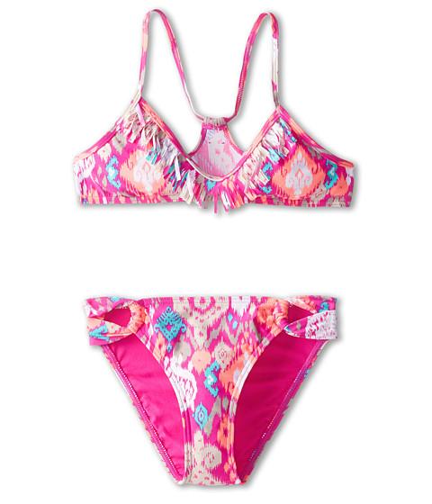 O'Neill Kids - Ikat Dreams Fringe Top Bikini (Big Kids) (Berry) Girl's Swimwear Sets