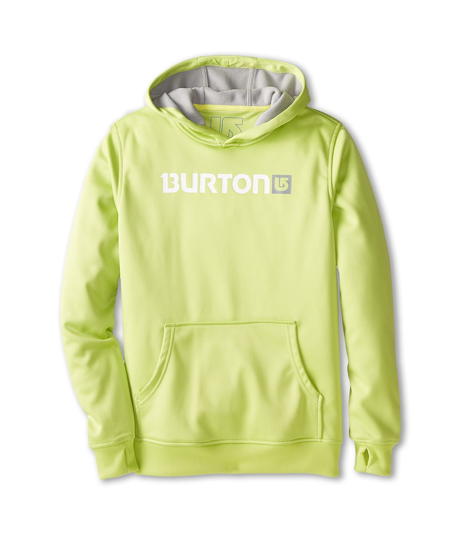 Burton - Crown Bonded Pullover Hoodie (Little Kids/Big Kids) (Lime Green) Men's Sweatshirt