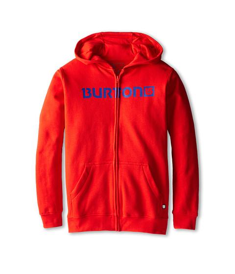 Burton Kids - Logo Horizontal Full Zip Hoodie (Big Kids) (Fiery Red) Boy's Sweatshirt