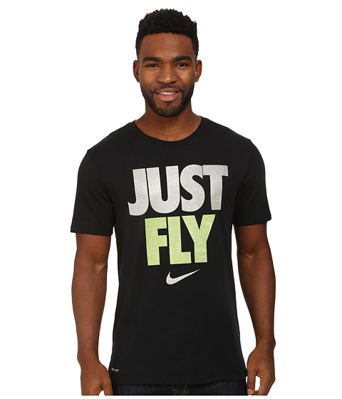 Nike - Just Fly (Black/Volt/Black) Men