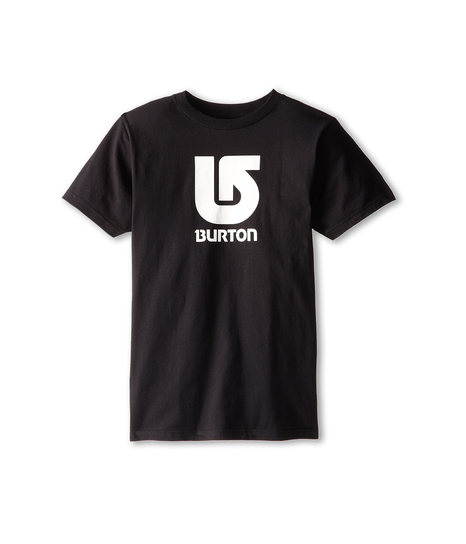 Burton Kids - Logo Vertical S/S Tee (Big Kids) (True Black) Boy's Short Sleeve Pullover