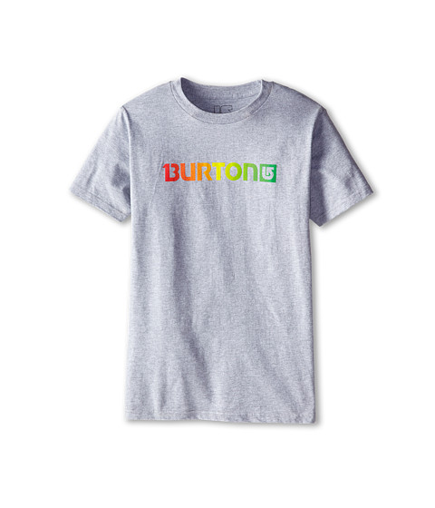 Burton Kids - Logo Horizontal S/S Tee (Big Kids) (Grey Heather) Boy