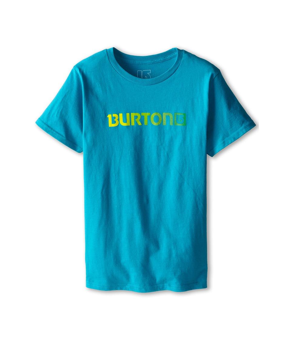 Burton Kids - Logo Horizontal S/S Tee (Big Kids) (Enamel Blue) Boy's Short Sleeve Pullover