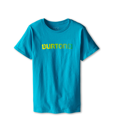 Burton Kids - Logo Horizontal S/S Tee (Big Kids) (Enamel Blue) Boy