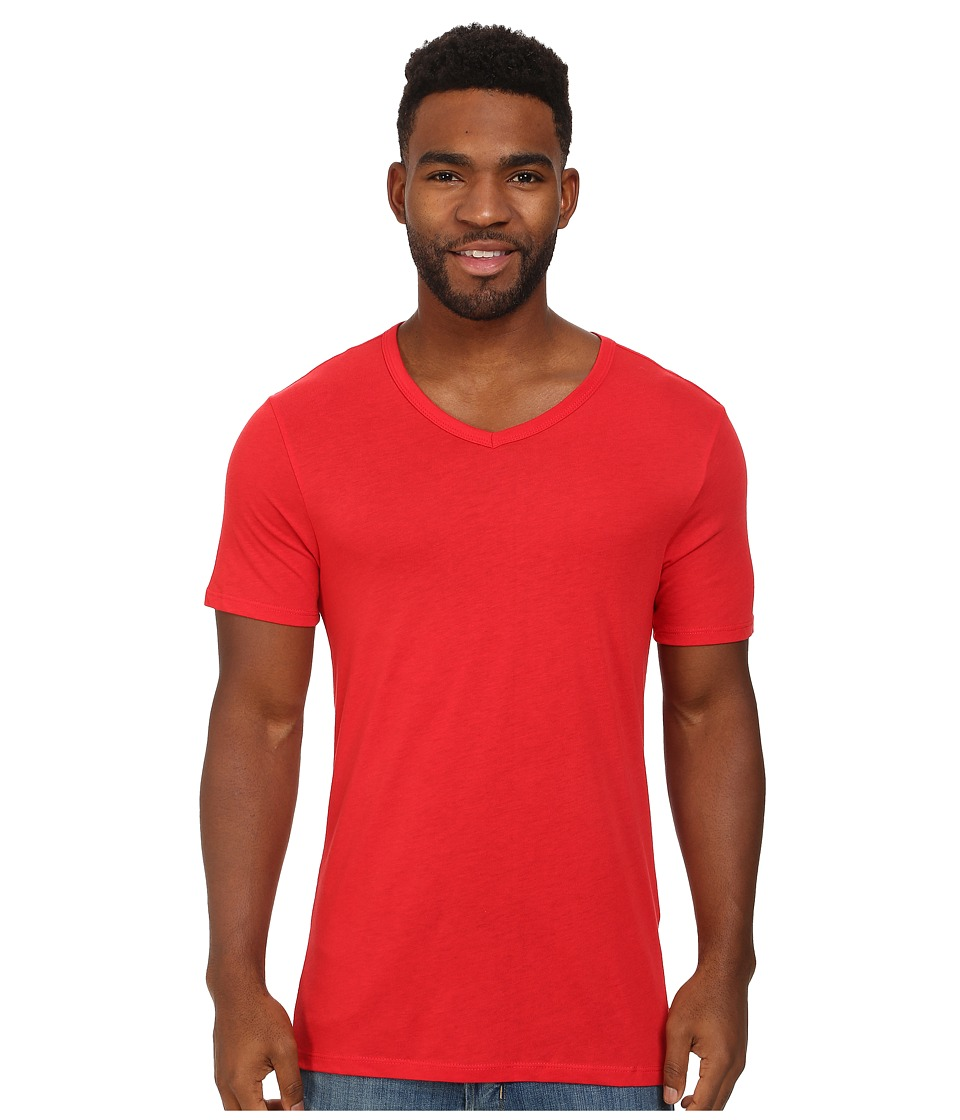 Nike - Solid Futura V-Neck Tee (University Red/Black) Men's T Shirt
