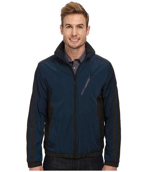 Calvin Klein - Color Blocked Nylon Jacket (Mariner) Men's Coat