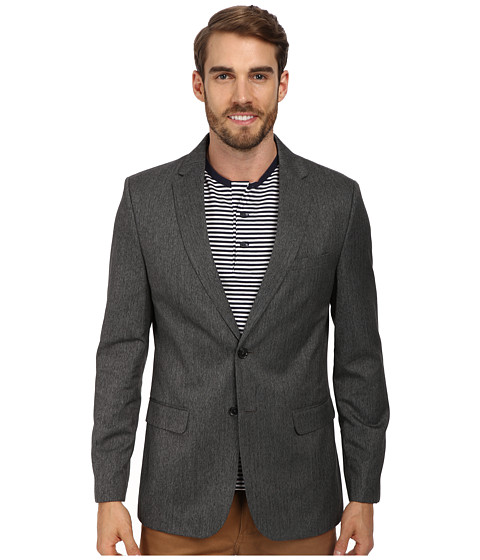 Calvin Klein - Jaspe Textured Sportcoat (Granite) Men's Jacket