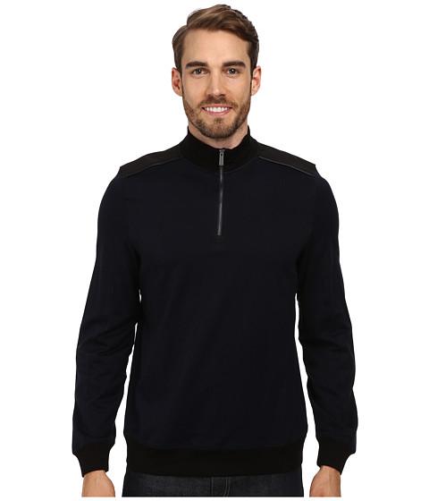 Calvin Klein - Jacquard 1/4 Zip Sweatshirt (Insignia Blue) Men's Sweatshirt
