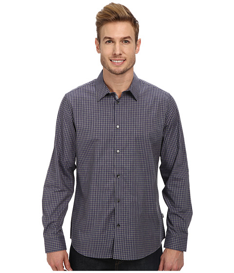 Calvin Klein - Yarn-Dyed Gingham Woven Shirt (Solitaire) Men