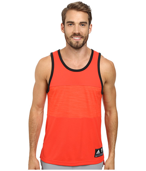 adidas - Team Speed Tank (Bright Red/Black) Men's Sleeveless