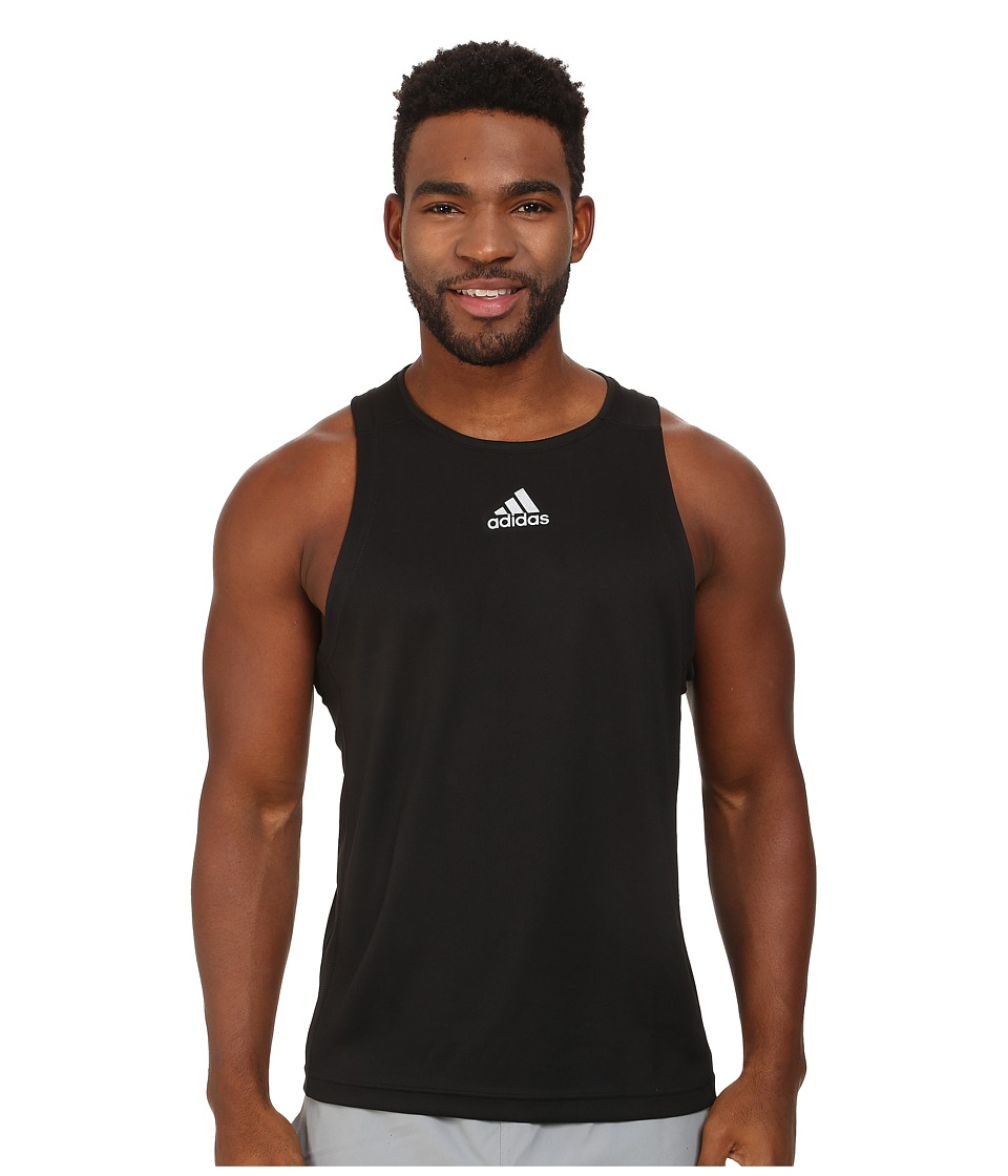 adidas - Sequencials Money Singlet (Black) Men's Sleeveless