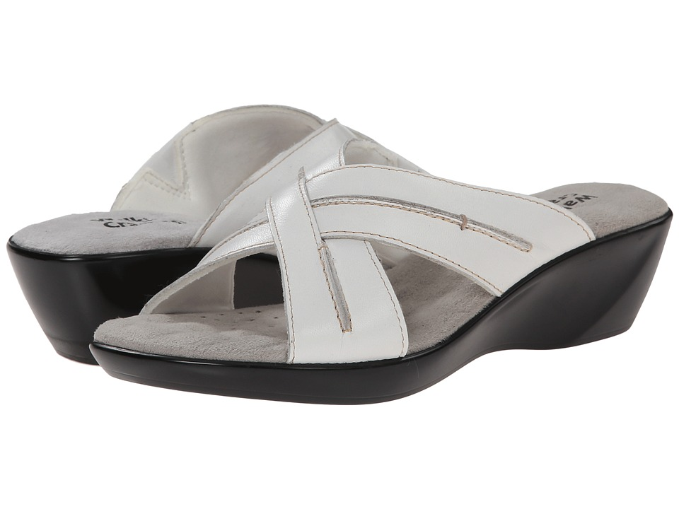 Walking Cradles - Chase (White Burnished Leather) Women