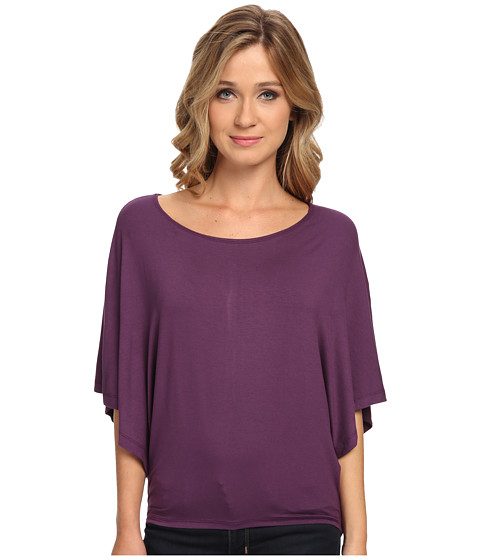 Culture Phit - Jada Butterfly Sleeve Top (Deep Purple) Women's Clothing