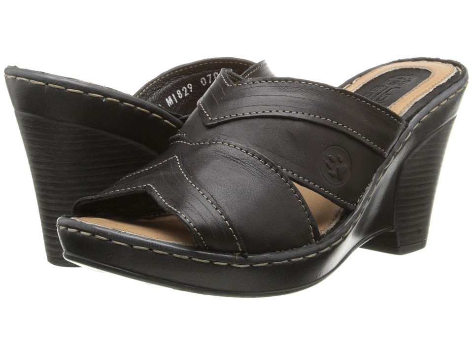 Lobo Solo - Rubi (Black Leather) Women's Sandals